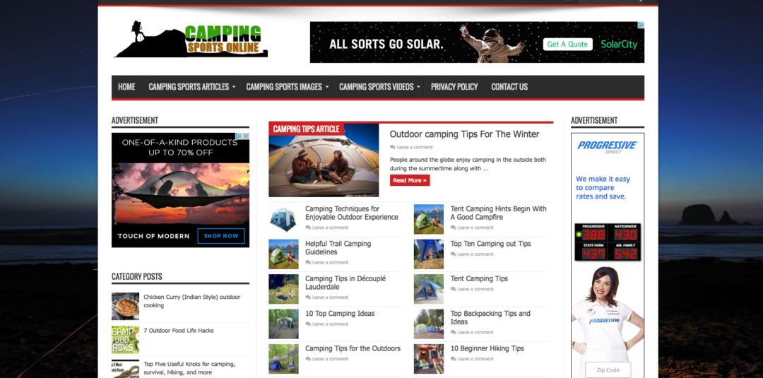 Camping Sports Online